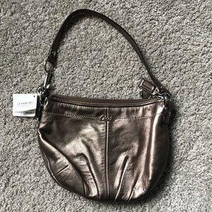 Coach purse, NWT, metallic gold